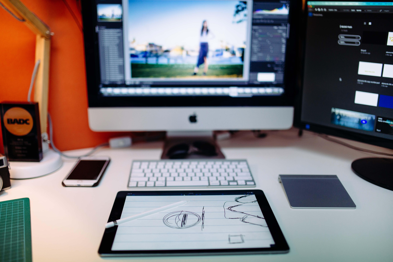 graphic design, workstation